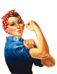 Rosie The Riveter Flexing Her Arm Muscles, We Can Do It!