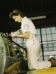 Female Riveter Assembling an Airplane