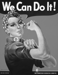 We Can Do It! Rosie the Riveter in Black and White