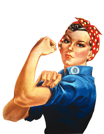 Free Photo: Rosie the Riveter Isolated on White