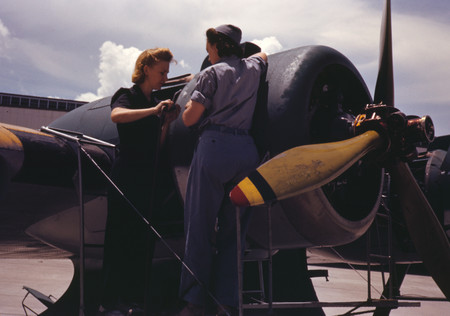 Free Photo: Real Riveters Assembling a Plane