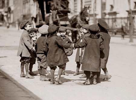 Free Photo: Children Playing Ring Around a Rosie