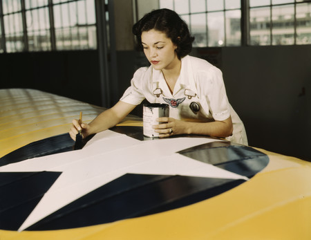 Free Photo: Rosie Painting the American Insignia